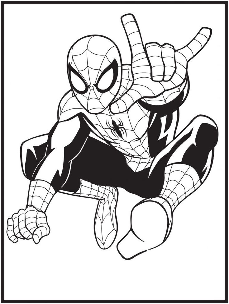 Spiderman Coloring Pages Superheroes | 101 Coloring in ...