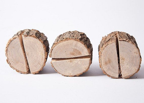 10 pieces rustic place card holders Wedding by PlaceCardHolderShop