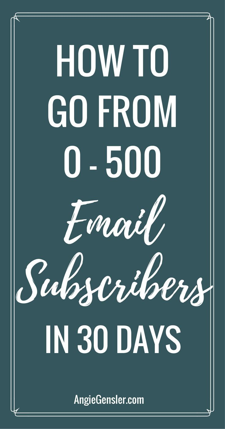 How to grow your email subscribers from 0 - 500 in 30 days! Learn the 5 methods I used to grow my email list fast! via @angiegensler