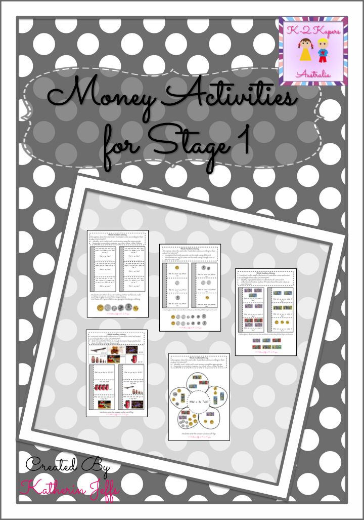 This is my newest product on DBT and has activities all about Australian money. The activities are also interactive as the students lift flaps to find answers