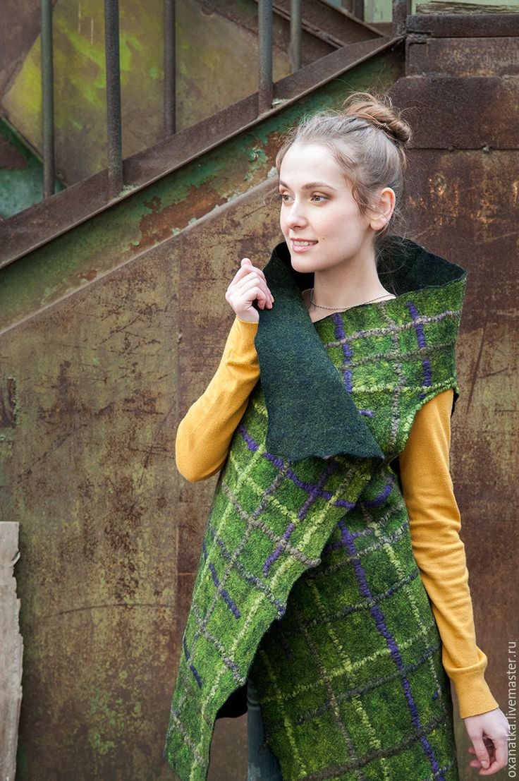 Felted vest Ivy – shop online on Livemaster with shipping