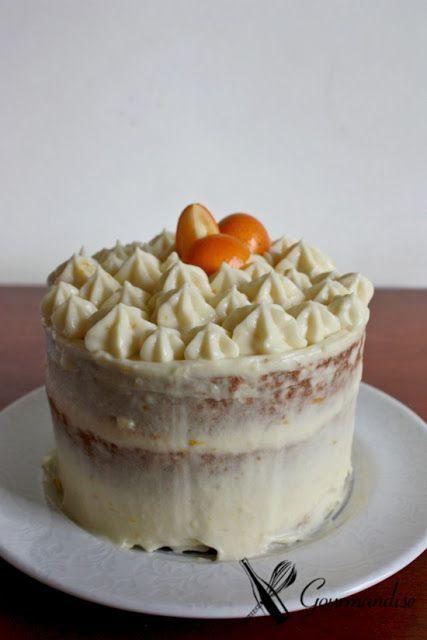 bolo de geleia de laranja + creme diplomata de laranja = semi naked