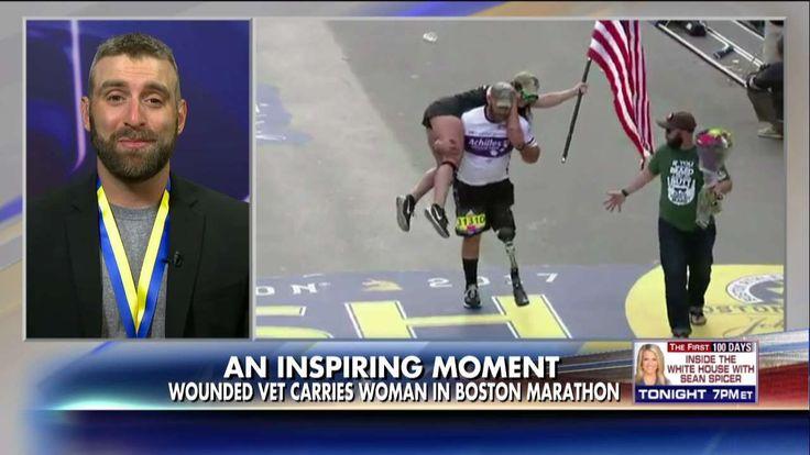 VIRAL: Vet With Prosthetic Leg Carries Guide Across Boston Marathon Finish Line