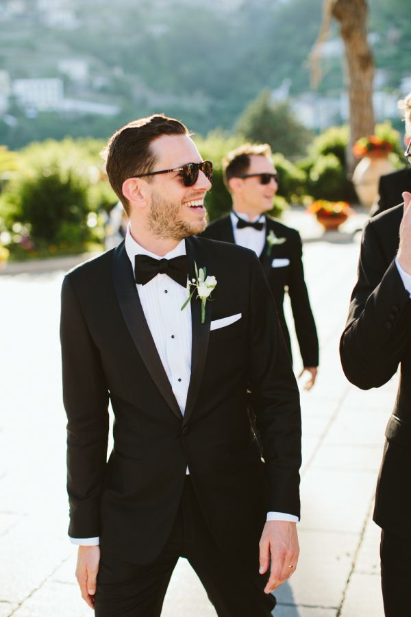 Stylish groom: http://www.stylemepretty.com/destination-weddings/italy-weddings/2016/06/16/the-views-arent-the-only-breathtaking-part-of-this-amalfi-coast-wedding/ | Photography: M And J Photography - http://www.mandjphotos.com/