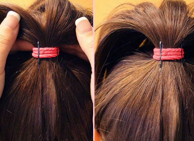 13 Hairstyling Hacks All Girls Should Try - Minq.com... After pulling your hair into a ponytail, attach two bobby pins upright onto the front of your hair tie. This is a simple way to quickly add some volume to your ponytail!