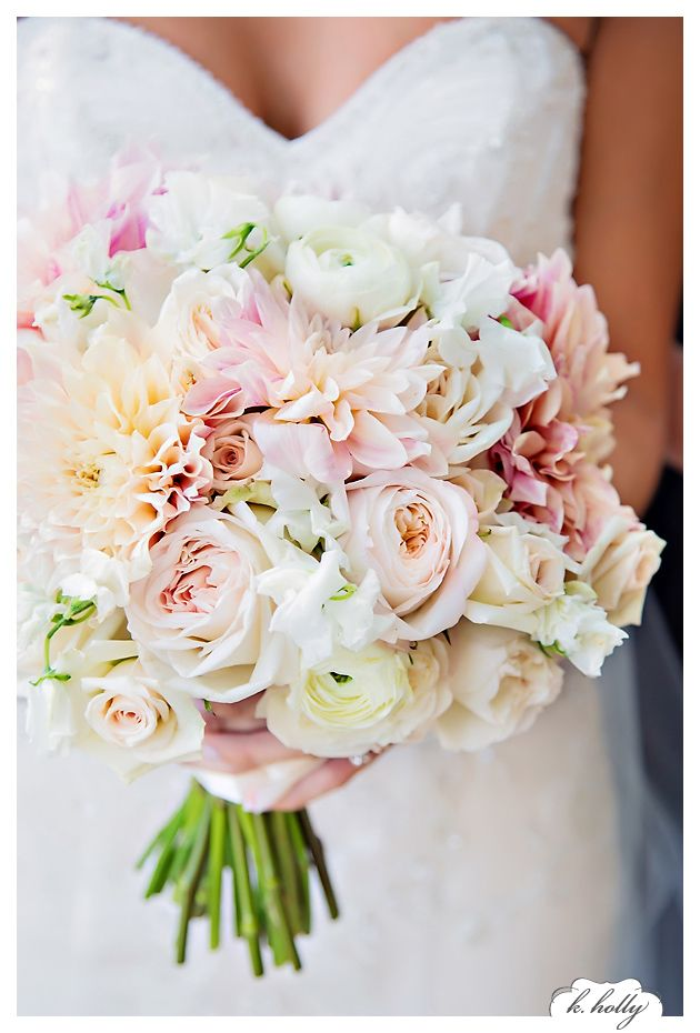 bride boquets - Garden Rose And Hydrangea Bouquet