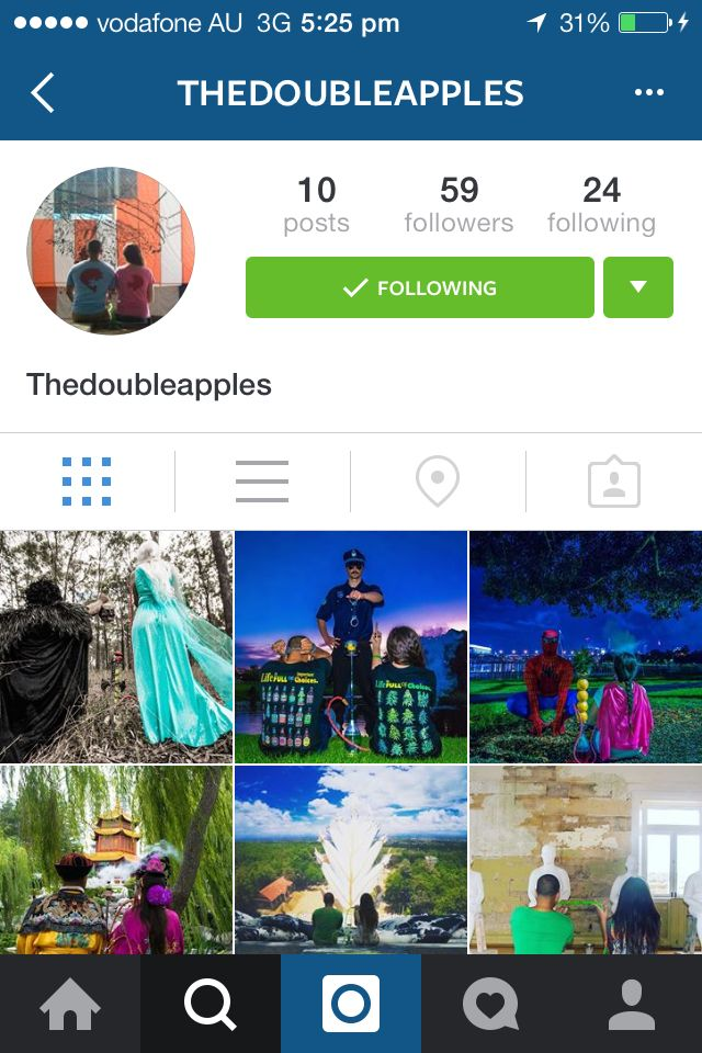 Follow us on Instagram @ thedoubleapples