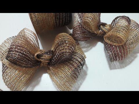 Laço de fita e lacinho de meia perolas- satin ribbon, how to make laces, - YouTube