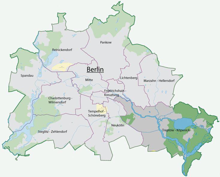 Ubicación del Distrito Treptow-Köpenick Este distrito se ubica al sureste de Berlín, siendo los parques, los bosques y el lago Müggelsee quienes ocupan cerca de tres cuartas del área del distrito. Treptow-Köpenick representa el 42,8% de los bosques de Berlín.