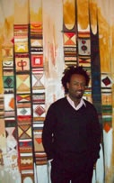 Solomon Asfaw gave a Live Painting Demonstration with Amharic Characters; From Abyssinia to Addis Ababa""