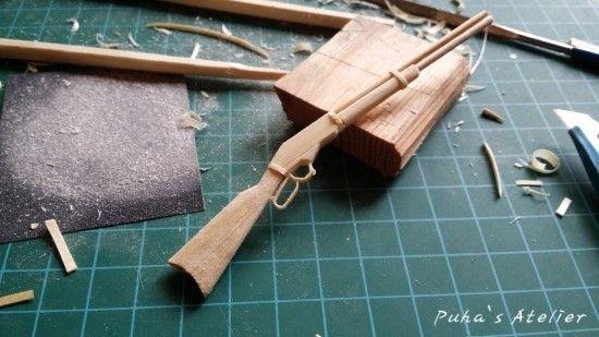 조선 총잡이를 보고 윈체스터 카빈을 만들다 (나무젓가락공예 총기 미니어쳐) : 네이버 블로그