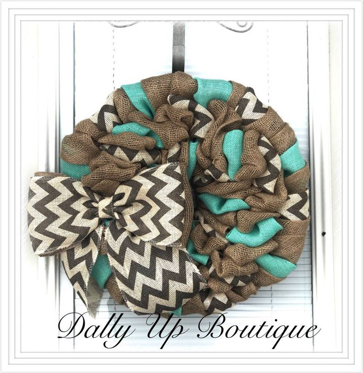 Burlap wreath, Summer Wreath https://www.etsy.com/listing/547271423/aqua-chevron-burlap-wreath-welcome