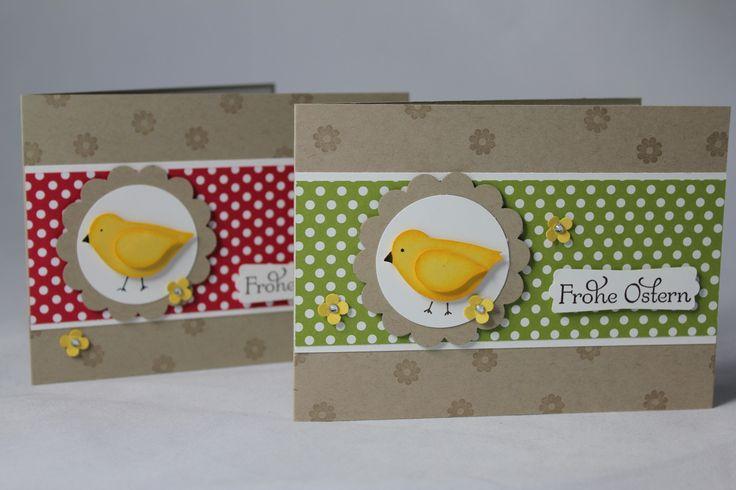 Osterkarte mit Vogelstanze - Basteln mit Produkten von Stampin' Up!