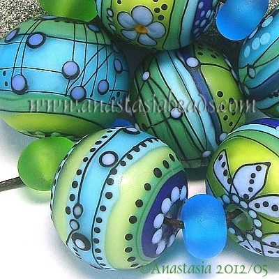 ANASTASIA--lampwork bead...