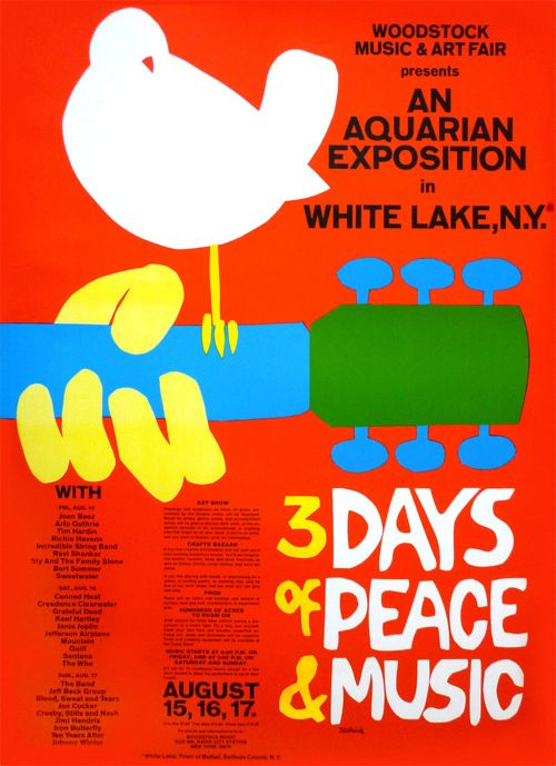 Woodstock- I need this poster...