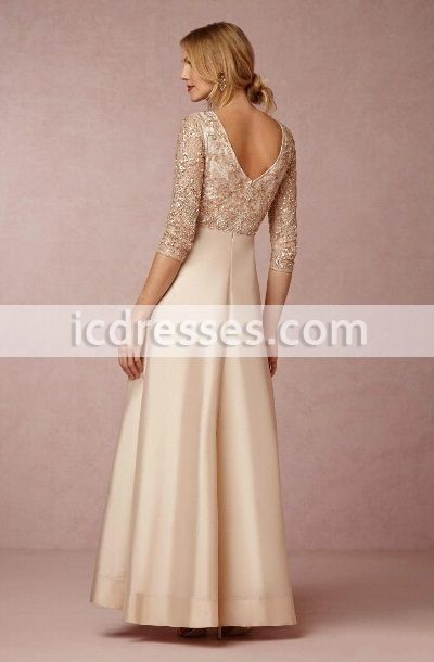 1434eef30f Long Sleeves Mother Of Bride Dresses Spring Lace Mother´s Dress With Sequin  Floor Length Wedding Formal Evening Dress -Special Occasion Dresses-Mother  of ...