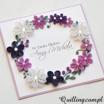 Simple quilling designs for cards