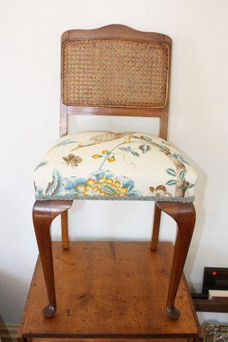 Queen Anne Rattan Chair - ReVamp Vintage