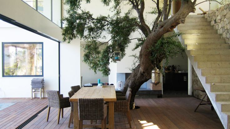 Covered terrace of holiday villa in Greece. Designed by BNLA architecten More inspiration can be found at www.bnla.nl - BNLA architects