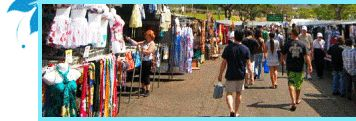 Aloha stadium swap meet is one of the largest Swap meets in Hawaii. (Oahu) Open Wednesdays and weekends.  Best value for buying tshirts and trinkets.