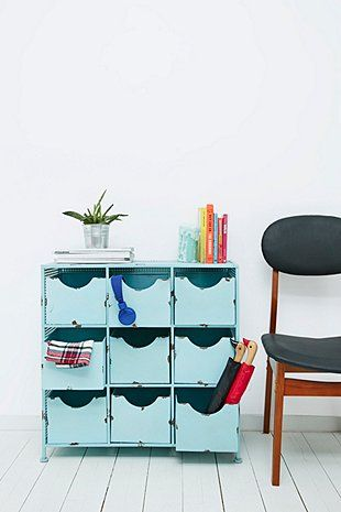 Home Office Storage Solutions Blue Nine Drawer Metal Cabinet