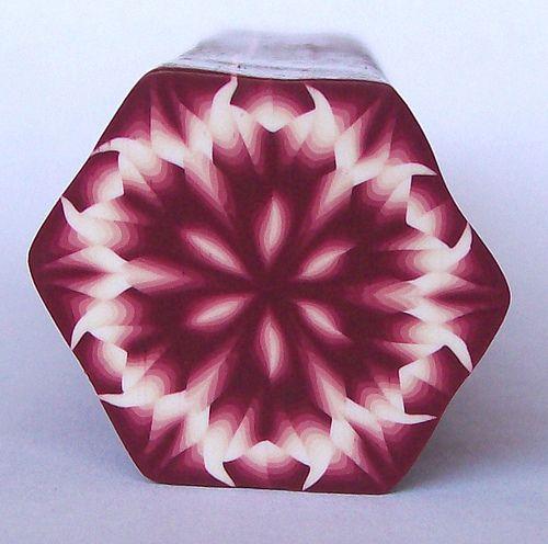 Kaleidescope Cane by K. Hernandez - Polymer Clay Art, via Flickr