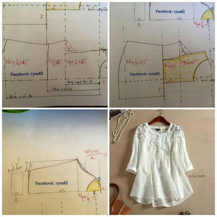 Fabric n lace blouse
