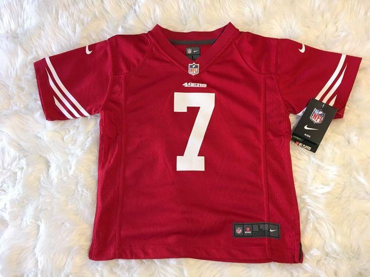 Red Nike Colin Kaepernick NFL San Francisco 49er's football Pro Jersey Kids LRG #Nike #SanFrancisco49ers