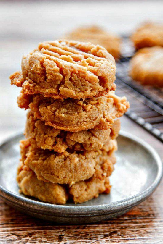 Flourless Peanut Butter Cookies are an easy 3-ingredient recipe. Rich peanut butter flavor and naturally gluten-free!