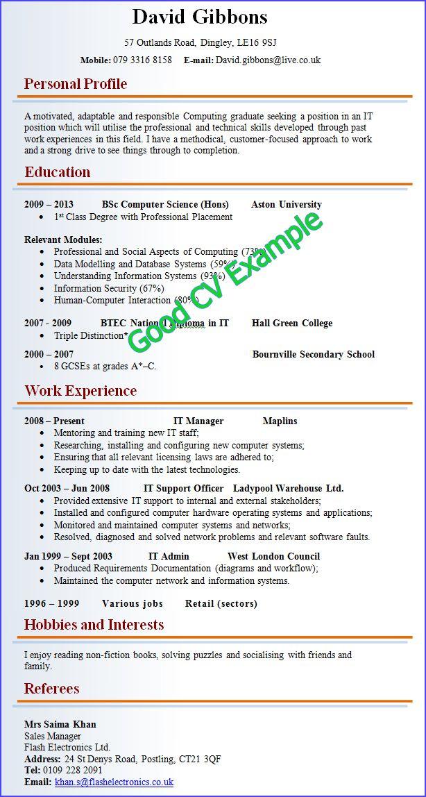As 25 melhores ideias de Good resume examples no Pinterest Dicas - appropriate font for resume
