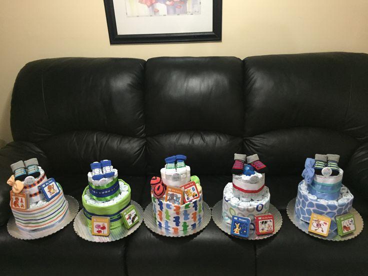 Story book diaper cake centerpieces