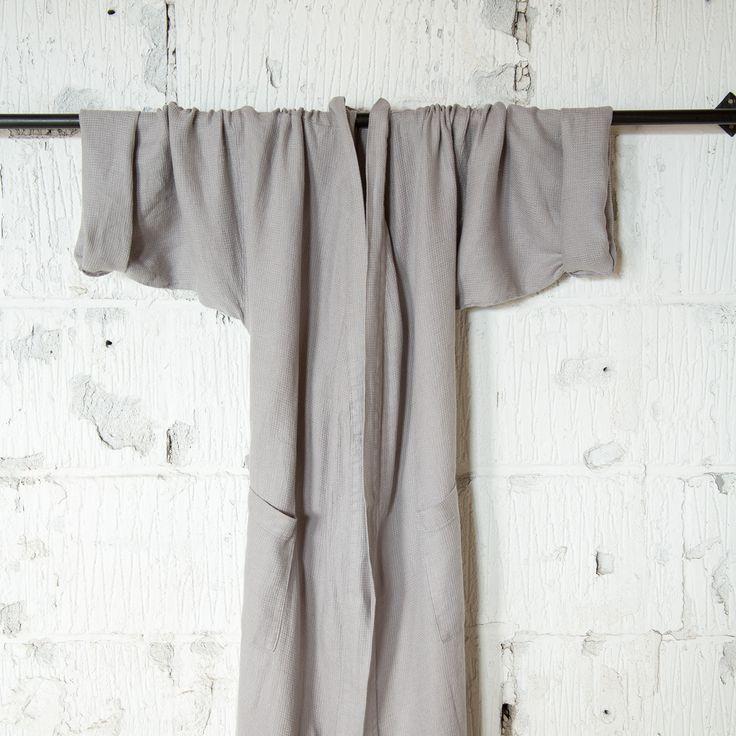 www.mamuli.be Kimono unisex badjas in 100% linnen
