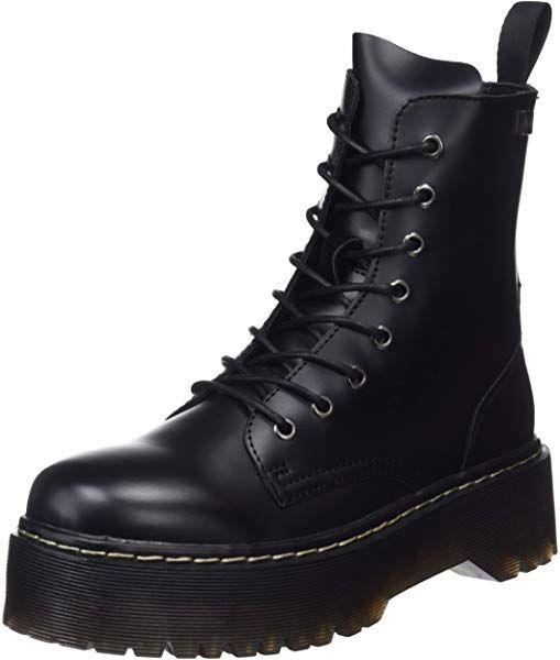COOLWAY Damen Abby Combat Boots, Schwarz (Blk 000), 41 EU