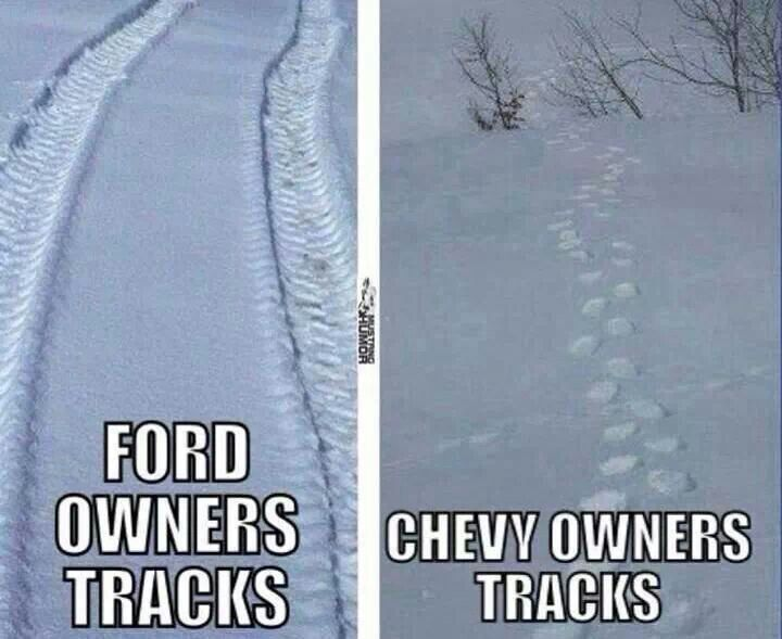 Fords Are Tough .... Chevys Are Fluff