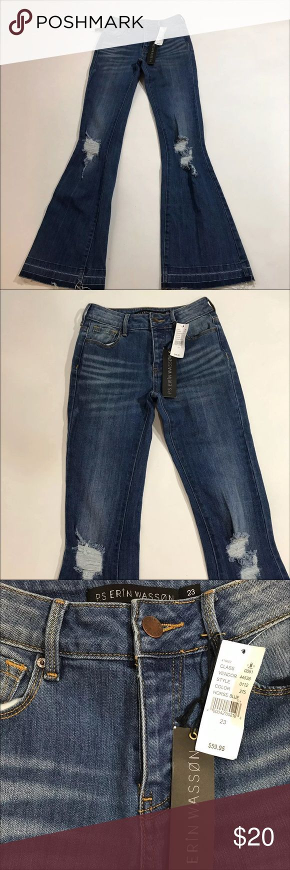 Ps Erin wasson Size 23 jeans 32 in inseam  39 in long 12 in across top ps erin wasson Jeans Flare & Wide Leg