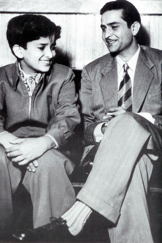 Shashi Kapoor and Raj Kapoor