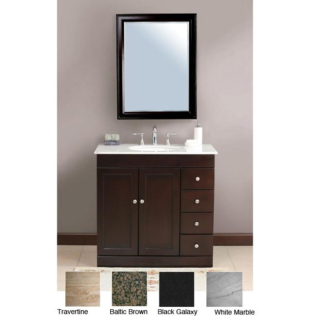 30 Inch Wide Bathroom Vanity. Instantly Upgrade The Look Of Your Bathroom With This Single Sink Bathroom Vanity From Madara The Vanity Is Made With A Solid Espresso Colored Birch Frame