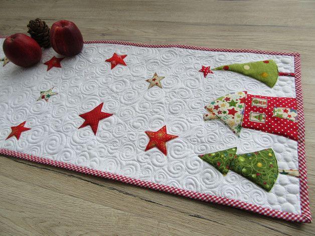 """Tischläufer - Quilt-Tischläufer """"Weihnachten"""" - ein Designerstück von Aksiny bei DaWanda"""