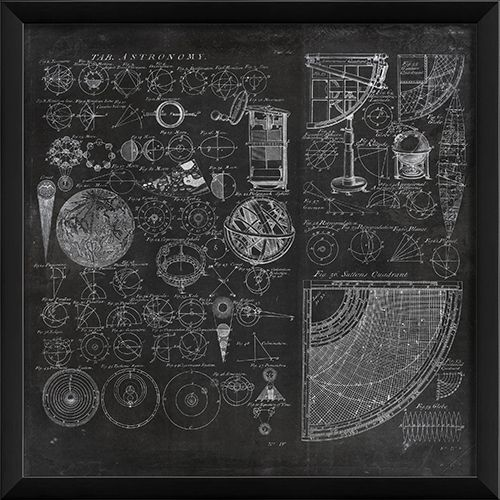 91740 EB Chambers Astronomy on black by The Artwork Factory