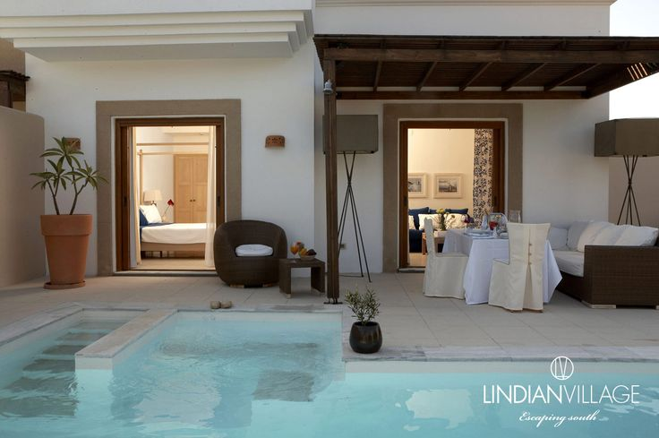 Enjoy the pool and the tranquility all around, at the River Passage Pool Suite! more at lindianvillage.gr
