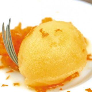 Varomeando: Sorbete de naranja y mango