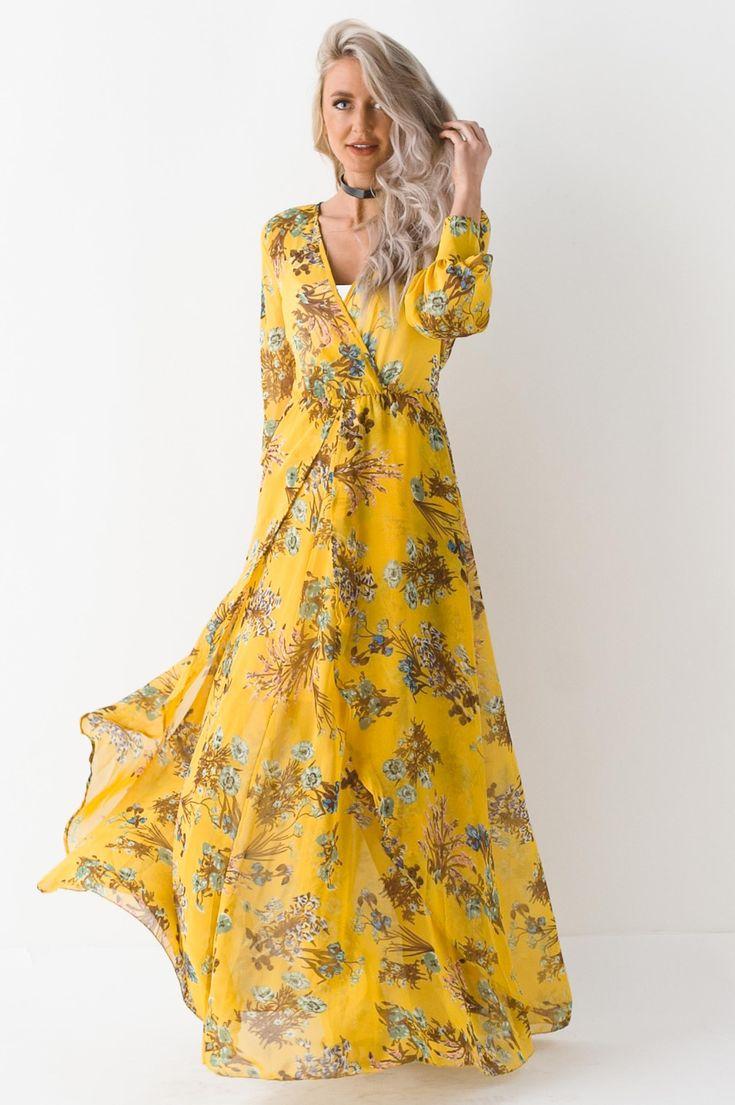 Dancing In Paris Floral Print Maxi Dress