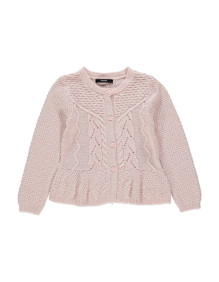 Cable Knit Sparkle Cardigan   Girls   George at ASDA