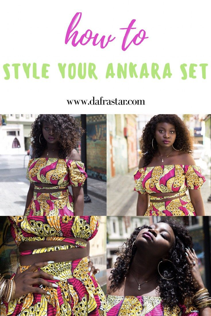 Bloggers @Dafrastar and @Dorothy_Abigail show ways style an ankara set, in this colorful article on www.dafrastar.com. Ankara set, ankara skirt, ankara shorts, how to wear ankara, how to style ankara