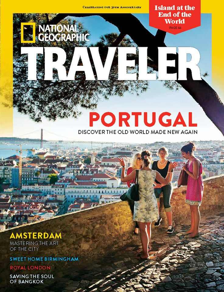 Portugal - Discover The Old World made New Again - National Geographic Traveler Magazine, Cover, August/September 2014, Volume 31, Number 5 | Portugal is the cover story of the USA August/September issue of National Geographic Traveler Magazine | Photo: View from Castelo de São Jorge (St. George Castle), Lisbon, Portugal