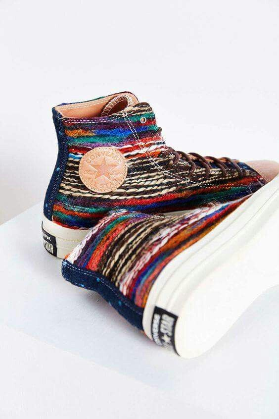 Rainbow and stylish Converse. See what's trending at hookedupshapewear...!