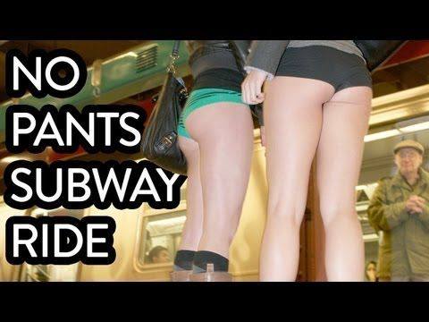 No Pants Subway Ride... Soo I would totally take part in this... ha!