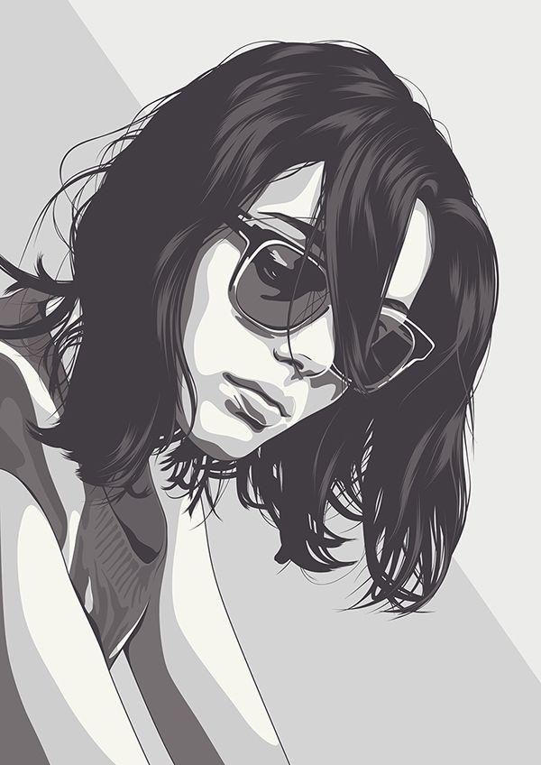 Girl vector portrait                                                                                                                                                                                 More