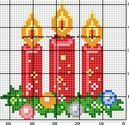 Candle Christmas Jessica cross stitch.