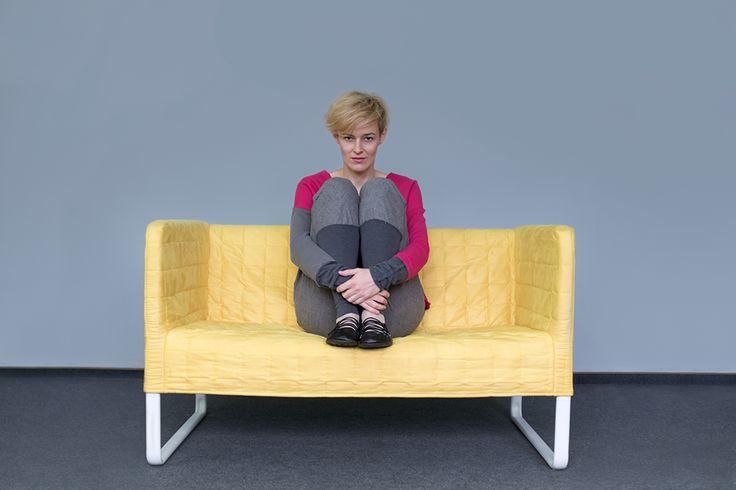 Grey, woolen pants for women